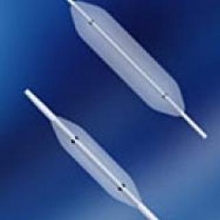 Dilatatieballon met geintegreerde radiopaque stabilisatiedraad
