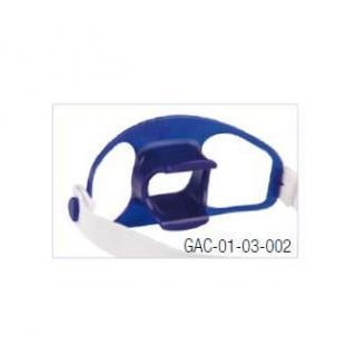 Bijtblok, met elastische stoffen hoofdband